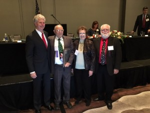 Congratulations to KBR RPPD Board Member Dale Caskey for receiving the Simonton/Graves Service Award from the Mid-West Electric Consumers Association at their annual meeting in Denver, CO. Dale is pictured with Bill Drummond, General Manager, his wife, Audrey and Vic Simmons, President of Midwest Board.